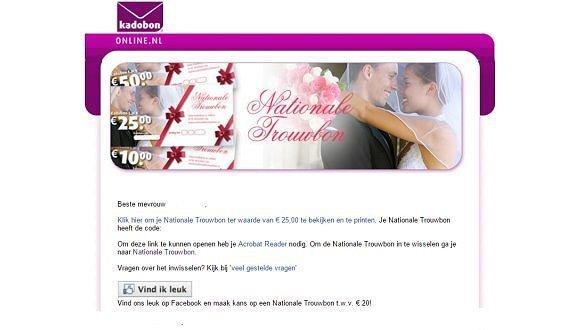 Uitzonderlijk 12 5 jaar huwelijk cadeau online - NationaleTrouwbon.nl @OV07