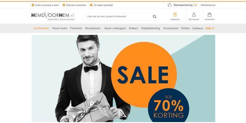 huwelijkscadeau van Hemdvoorhem.nl