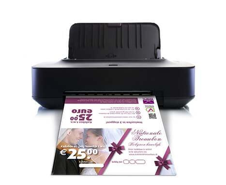 huwelijkscadeau robijn printen