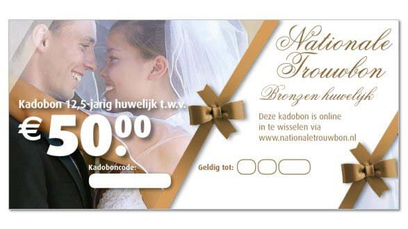 12 5 jaar huwelijk cadeau per e-mail