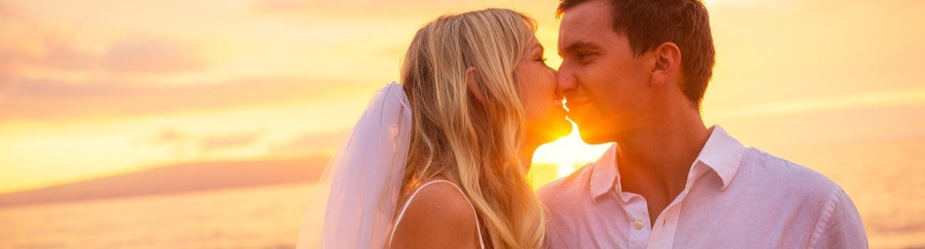 huwelijk sunset